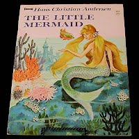 Vintage Children's book, The Little Mermaid, Saalfield Publishing