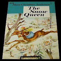 Vintage Children's book, The Snow Queen, Saalfield Publishing