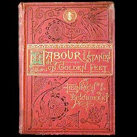 Antique Book, Labour Stands on Golden Feet