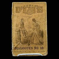 Antique Book 1871, Beadle's Dime, Dialoques No. 10