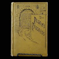 Antique Book 1883, Pilgrim's Progress, John Bunyan, Published by John B Alden