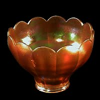 Antique Glass Shade, Iridized Marigold Color, Imperial Glass Co, Colonial #544
