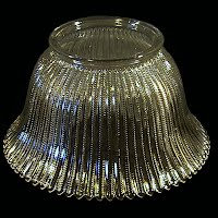 Antique EAPG Clear Glass Shade, 1900's