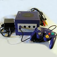 Vintage Game Cube Console with hookups and controller