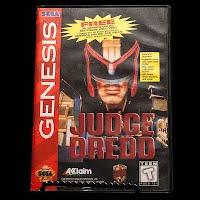 Vintage Sega Genesis Judge Dredd Game