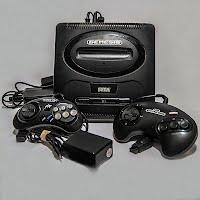 Vintage Sega Genesis original 1988 System, 2 controllers