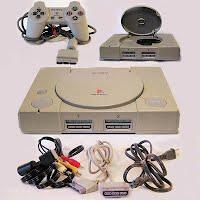 Vintage Original Playstation PSI Console, extension cables, hookups