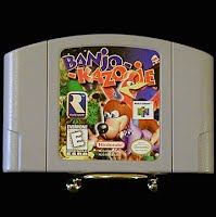 Vintage Original N64 Nintendo Banjo Kazooie Game Cartridge