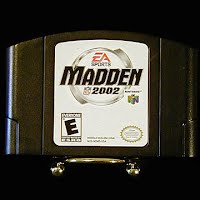 Vintage Original N64 Nintendo 64 Madden 2000 Game Cartridge