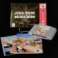 Vintage Nintendo 64 N64 Star Wars Episode 1 Racer Game Cartridge
