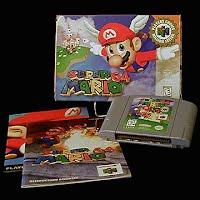 Vintage Nintendo 64 N64 Super 64 Mario Game Cartridge