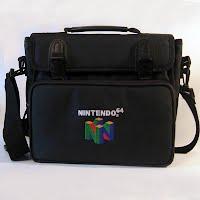 Vintage Nintendo 64 N64 Console Shoulder Bag Carrying Case
