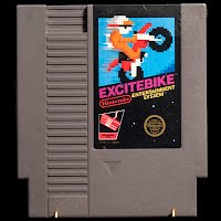 Vintage NES Nintendo ExciteBike Game
