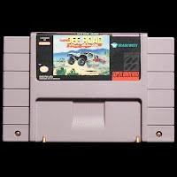 Vintage Super Nintendo Off Road Racer Game