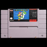 Vintage Super Nintendo Super Mario World Game