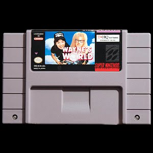 SNES Super Nintendo Game Cartridge: Wayne's World