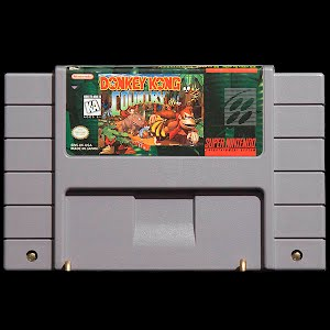 Vintage Original Super Nintendo Donkey Kong Country Game