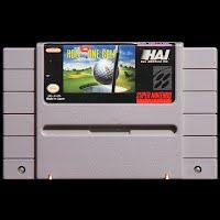 Vintage Original Super Nintendo Hole in One Golf Game