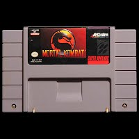 Vintage Original Super Nintendo DMortal Kombat Game