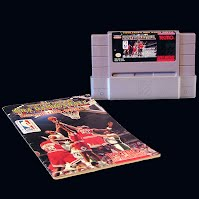 Nintendo SNES NBA Basketball Game Cartridge and Directions