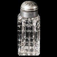 Antique Vintage Cut Glass Single Salt Shaker