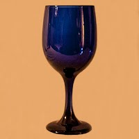Vintage Cobalt Blue Wine Glass