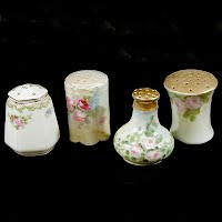 Antique Handpainted Salt Shakers
