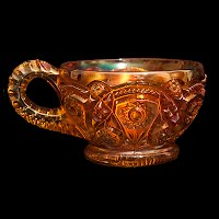 Antique Carnival Marigold Punch Cup, Imperial #1853 Fashion