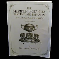 Vintage Book,The Meriden Britannia Silverplate Treasury, The Complete Catalog of 1886-1887