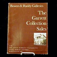 Vintage Auction Catalog: The Garret Collection Sales, March 26-27 1980