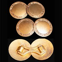 Antique I4K Gold Cuff Links