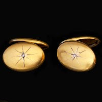 Antique Diamond and Gold Cuff Links