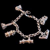 Vintage Gold San Francisco Charm Bracelet