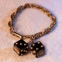 Vintage Gold tone Dice Bracelet