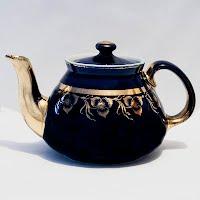 Vintage Hall's China cobalt Teapot