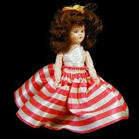 Vintage 1940s' Hard Plastic Doll with sleep eyes
