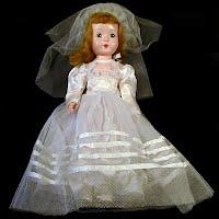Vintage 1953 Bride Doll