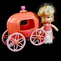 Vintage 1967 Cinderella and Pumpkin Carriage, Hasbro Storykins