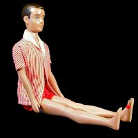 Vintage 1960-62 Ken Doll, original clothes only 1 shoe