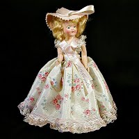 Vintage Lady Hampshire Doll with stand, 1950s
