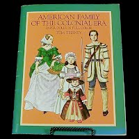Vintage 1983 American Family of the Colonial Era Paper Dolls, Tom Tierney, Dover Publications
