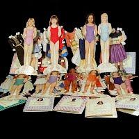 Vintage 1994-5 American Girls paper Dolls