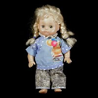 Vintage 1990's Littler Girl Doll, GI-GO Toys FTV LTD