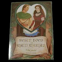 Vintage 1992 Robin Hood and Maid Marian Paper Dolls, Peck-Grande