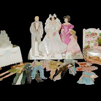 Vintage 1988 Bride and Groom Wedding Paper Dolls, Western Publishing Co