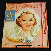 Vintage Here's the Bride Paper Dolls