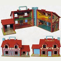 Vintage Fisher Price Little People Doll House