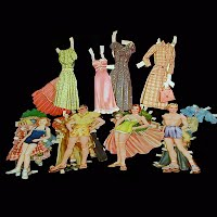 Vintage wedding paper dolls