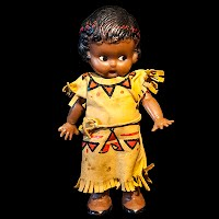 Vintage Native American Celluloid Indian Doll
