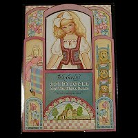 Vintage 1992 Goldilocks and the 3 Bears Paper Dolls, Peck-Grande